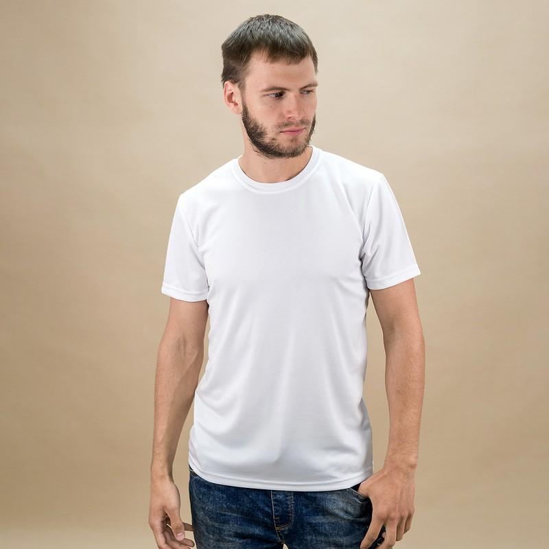 Сублимационная печать на белой футболке